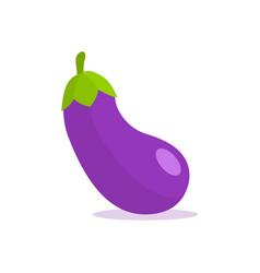 Eggplant flat emoji art icon plant purple vector