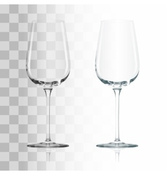 Empty transparent glass vector image