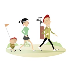 Family golf vector
