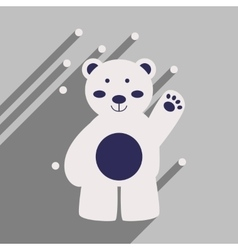 Flat icon with long shadow northern bear vector