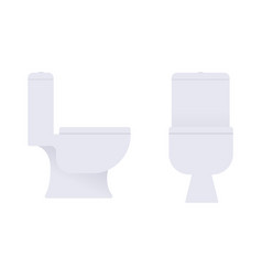 flat toilet in profile and full face vector image
