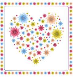 floral heart design vector image