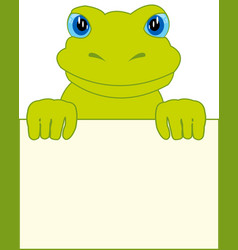 frog and clean sheet vector image