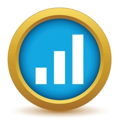 Gold graph icon vector image