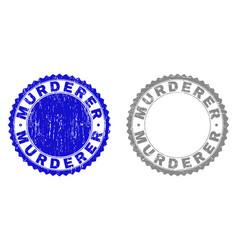 Grunge murderer textured watermarks vector