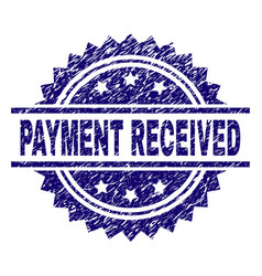 Grunge textured payment received stamp seal vector