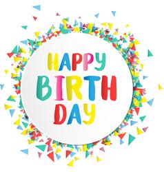 Happy birthday on paper label vector image