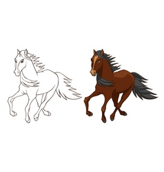 Horse brown vector