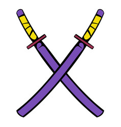 japanese kendo sword icon icon cartoon vector image