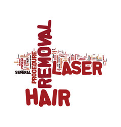 laser hair removal how does this process work vector image