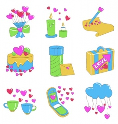 love design elements vector image