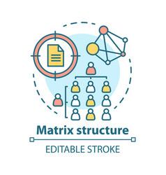 matrix corporate structure concept icon company vector image