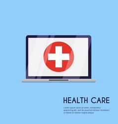 medical concept flat design style modern concept vector image