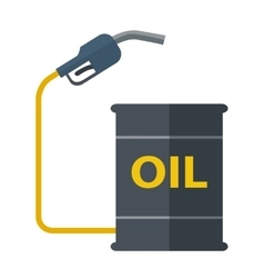 Metal barrels with gas pump vector