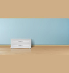 mockup of empty room minimalist interior vector image