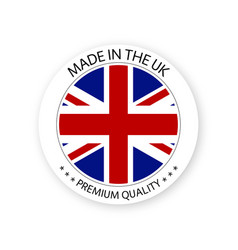 Modern made in the uk label british sticker vector