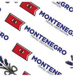 Montenegro travel destination flag national symbol vector