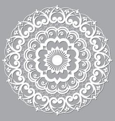 Moroccan moorish mandala openwork arabic vector