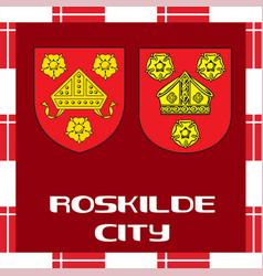 National ensigns of denmark - roskilde city vector