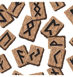 Norwegian runes Abstract background with Template vector