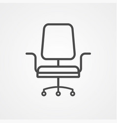 office chair icon sign symbol vector image