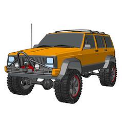 orange off road vehicle on white background vector image