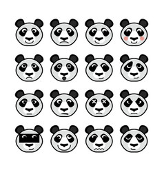 Panda emoticon vector