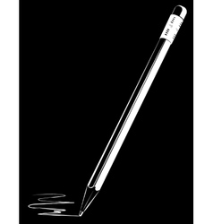 pencil on black background vector image