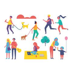 people activities in summer vector image