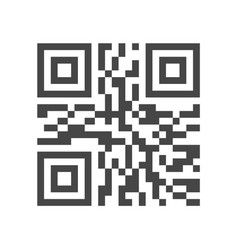qr code identification line icon 48x48 pixels vector image