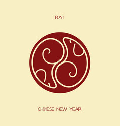 rat chinese new year vector image