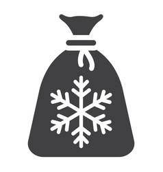 santa bag glyph icon new year and christmas vector image