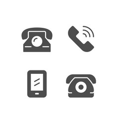 set icons of phone vector image