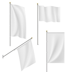 Set of flags and banners isolated on white vector image