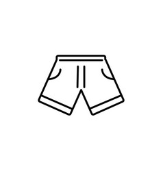 short clothing summer icon line vector image
