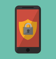 Smartphone and security system design vector