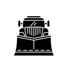 snow blades for trucks black glyph icon vector image