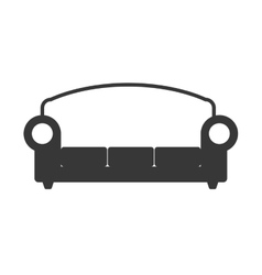 Sofa silhouette icon Resting and sleep design vector