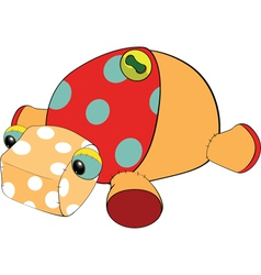 Soft toy a turtle vector
