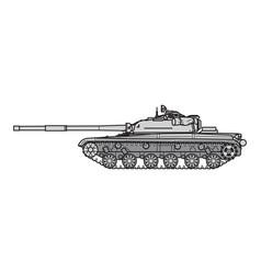 Soviet main battle tank vector