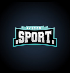 Sport text power full typography t-shirt graphics vector