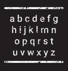 alphabet letters set over grunge textured vector image vector image