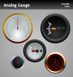 analog gauge icon vector image vector image