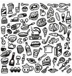 Food - doodles set vector