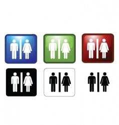 mf toilets vector image vector image