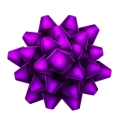 Purple bow top view EPS 10 vector image vector image