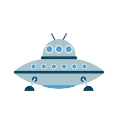 UFO flat icon vector image