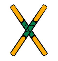wooden sword bokken icon icon cartoon vector image vector image