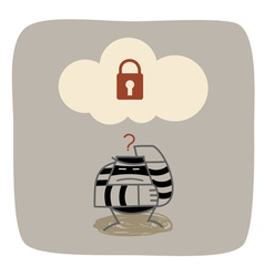 Cloud Computing Security vector image
