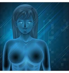 Human DNA vector image vector image